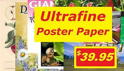 """13"""" x 19"""" 100 Sheets Ultrafine Inkjet Poster Paper Photo Quality Top Selling"""