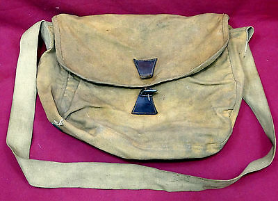Vintage Lyons & Coulson Canvas Two Pocket Fish Creel