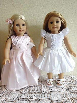 """NEW-DOLL CLOTHES: Party Dresses & Shoes fit 18"""" Doll such as AG Dolls-Lot #270"""