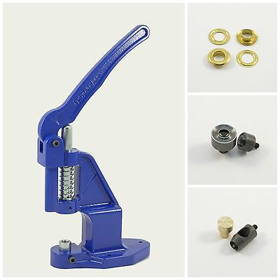 Eyelet press +125 gold 17mm rust-free + Tools for Textile, Leather, Rivets