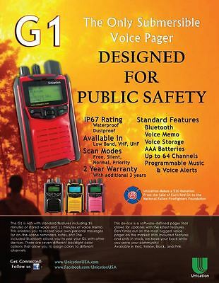 UNICATION G1 VHF or UHF PAGER RECEIVER SCANNER - Minitor V 5 VI 6