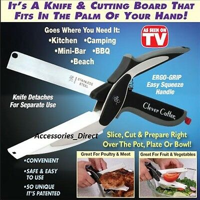 As Seen On TV 2-1 Scissors Free Postage Clever Cutter Knife & Cutting Board