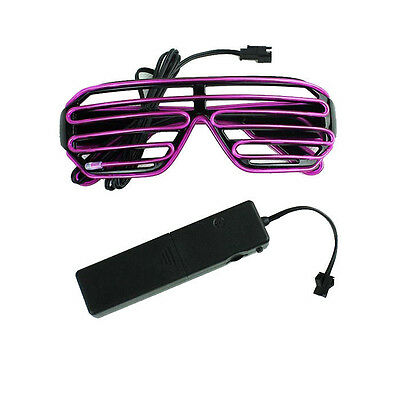 EL Wire Glasses Shutter LED Fluorescent Sunglasses Voice Control for Bar Party