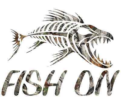 skillet fish sticker boat sticker bass wakeboard kayak canoe rod bobber hooks