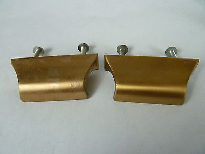Vintage brass Bronze Industrial  Door Drawer Pulls Lot of 2