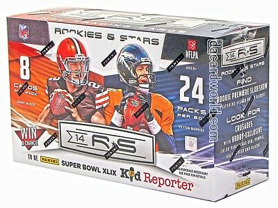 1 (ONE) NEW sealed 2014 Panini Rookies & Stars football hobby pack from box