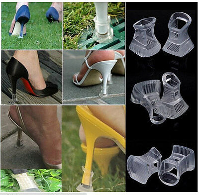 1 Pair Clear High Heel Stiletto Shoes Protectors Covers Stoppers Outdoor