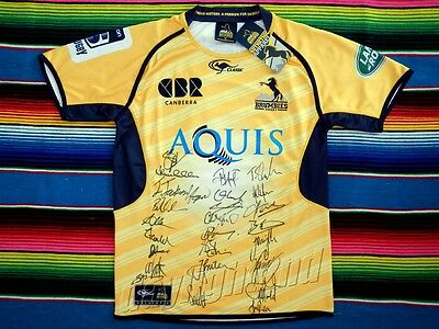 Signed 2016 ACT BRUMBIES Rugby Jersey PROOF COA Wallabies World Cup Union