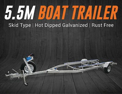 5.5M Boat Trailer Drive-On Skid Type 15-18.5Ft Boats Heavy Duty Brisbane QLD