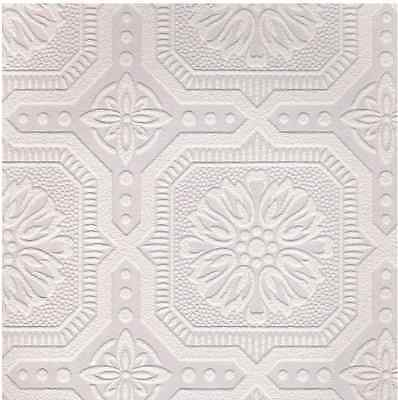 Ceiling Tile Paintable White Wallpaper Graham and Brown Double Roll Small Decor