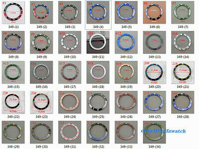 Red Black Blue Green Ceramic/Titanium Bezel insert Fit Automatic 40mm watch P349