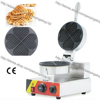 Commercial Nonstick Electric Mini Heart Shape Waffle Maker Iron Baker Machine
