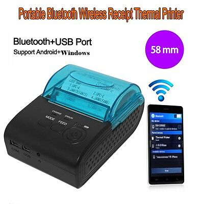 58mm Wireless Bluetooth USB Android iOS Label Barcode Receipt Thermal Printer