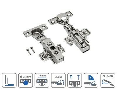 GTV  110 degree Soft Close kitchen / bedroom / bathroom cabinet door hinges