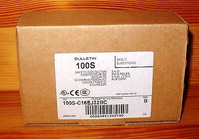 *NEW*  Allen Bradley 100S-C16EJ32BC IEC Contactor 16 Amp 24V DC Electronic Coil