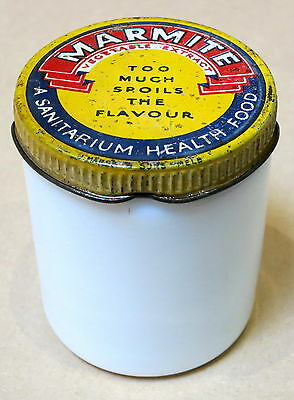 Vintage Milk Glass Marmite Jar #2