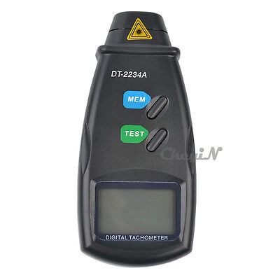 Large Screen Non-contact Laser Rotation Tachometer Photo RPM Tester Speed Gauge