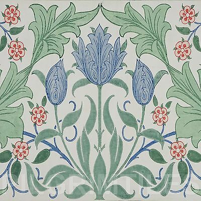 Metric Porcelain Tile William Morris Tulip Walls Floors Kitchens Bathroom ref 2