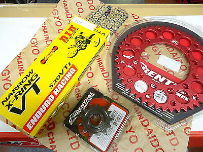 DID Gold X Ring Chain Renthal Sprocket Kit CR CRF 125 250 450 500 R X Red Black