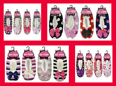 Ladies Co-Zee Sherpa slippers uk size 4-7 comes in 4 Designs
