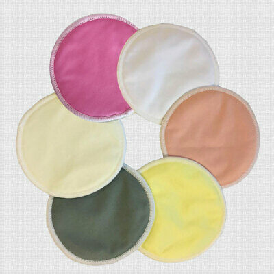 12 x Bamboo Nursing Pads Breastfeeding Pads Washable Reusable Waterproof