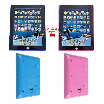 Electronic Children Tablet Learning Computer Kids Educational Toy Christmas Gift