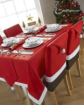 Christmas Xmas Santa Red TABLE CLOTH OR RUNNER Dinner Table Father Christmas