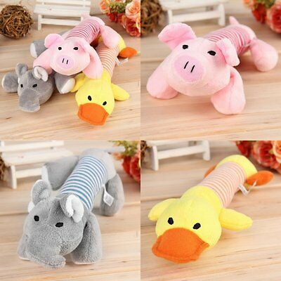 Pet Puppy Chew Squeaker Squeaky Plush Sound Pig Elephant Duck For Dog Toys P6