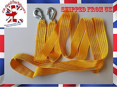 5 TONNE 5T 4Mtr Tow Towing Pull Rope Strap Heavy Duty Road Recovery Car Van 4x4