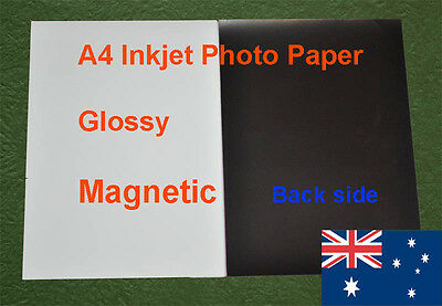 50 sheets A4  Inkjet Glossy Magnetic Photo Paper ( Corner Bended )