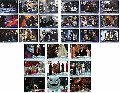 Dr Who 2015 Companions, Memorable Moments, Christmas Time - 3x Chase Card SETs