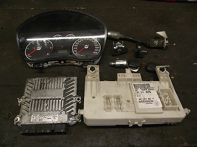 Ford Focus Mk2 2006 1.8 TDCI engine control unit ECU Kit Set 4M5I-12A650-JL