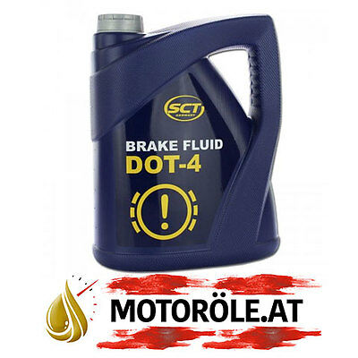 Mannol Bremsflüssigkeit DOT4 5l Liter Brems Öl Break Fluid Dot 4 SCT Germany Oil