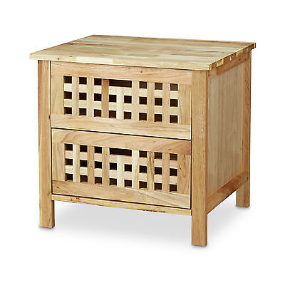 Walnut Bedside Table Nightstand Bedroom Furniture Bed Cabinet Wooden Console