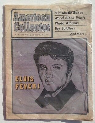 Vtg October 1977 American Collector Newspaper Vol. 8 No. 10 Elvis Presley Fever