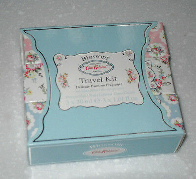 Cath Kidston Blossom Travel Kit 3 Items Shower Gel/ Body Lotion & Hand Cream New