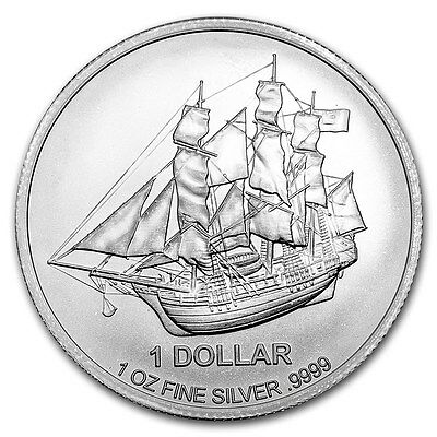 COOK ISLAND 1 Dollar Argent 1 Once Bounty 2017 1 Oz silver bar
