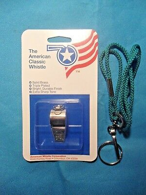 AMERICAN CLASSIC WHISTLE  (MODEL 300SI)   with  NECK LANYARD -  NEW