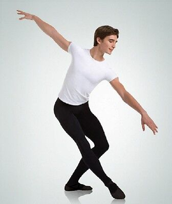 Body Wrappers M90 Black Men's Size Extra Large Cut and Sewn Footed Dance Tights
