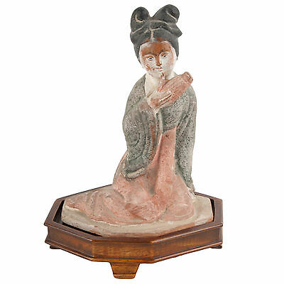 China 20. Jh. Musikerin - Chinese Terracotta Figure Of A Musician Cinese Chinois