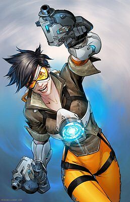 Mike Miller SIGNED Blizzard Overwatch Art Print Tracer