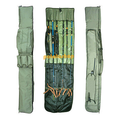 3+3 Made Up Rod And Reel Padded Holdall Bag 12FT Rods Carp Fishing Tackle Bag