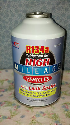 R134A, R-134A, Refrigerant, For High Mileage Vehicles, With Leak Sealer, 13 Oz.