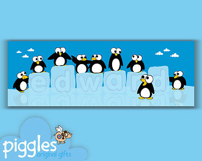 Personalised Penguins Door Sticker New & Exclusive