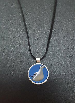 """Seagull Pendant On a 18"""" Black Cord Necklace Ideal Birthday Gift N507"""
