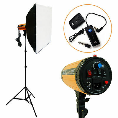 【US】LUSANA 300W Photography Studio Softbox Strobe Photo Flash Light Kit