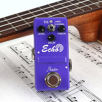 Mini Portable Metal Delay Guitar Effect Pedal with True Bypass Circuitry Design