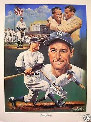 Lou Gehrig New York Yankees Angelo Marino Limited Edition Lithograph