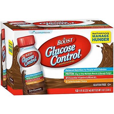 Boost Glucose Control Rich Chocolate Nutritional Drink 8 Ounce 12 Count