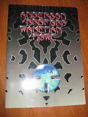 Anderson Bruford Wakeman Howe Concert Tour Program (Yes) Autographed 1990